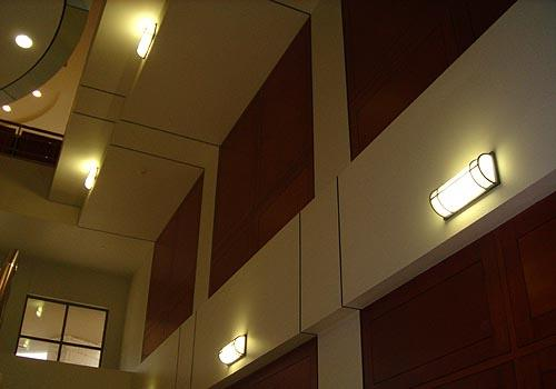 Leo Series illuminated & horizonatally mounted on various levels inside the Avery Building.